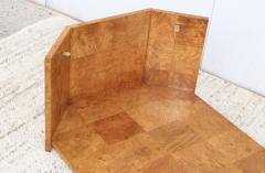 Milo Baughman 1970s Mid Century Modern Burl wood Coffee Table - 1121199