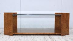 Milo Baughman 1970s Mid Century Modern Burl wood Coffee Table - 1121200