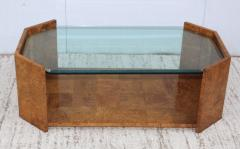 Milo Baughman 1970s Mid Century Modern Burl wood Coffee Table - 1121202