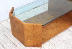 Milo Baughman 1970s Mid Century Modern Burl wood Coffee Table - 1121207