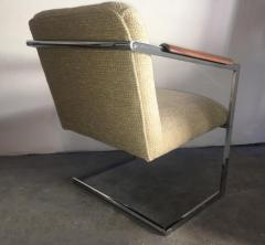 Milo Baughman Architectural Chrome Chairs in the Manner of Milo Baughman a Pair - 1126145