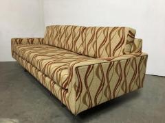 Milo Baughman Chrome Base 1970s Tuxedo Sofa - 1137404