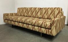 Milo Baughman Chrome Base 1970s Tuxedo Sofa - 1137406