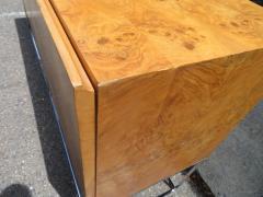 Milo Baughman Dramatic Milo Baughman Burled Olive Wood Chrome Credenza Mid Century Modern - 1222510