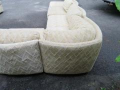 Milo Baughman Extra Large Milo Baughman 11 Piece Curved Back Cube Sectional Sofa Midcentury - 1709045