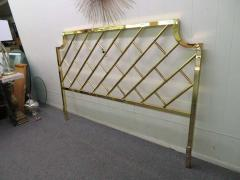 Milo Baughman Fantastic Tall Brass Lattice Hollywood Regency King Size Headboard - 1629330