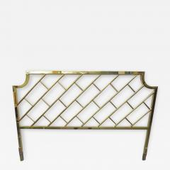 Milo Baughman Fantastic Tall Brass Lattice Hollywood Regency King Size Headboard - 1636261