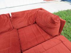 Milo Baughman Handsome 7 Piece Milo Baughman Style Sectional Sofa Mid Century Modern - 1708910