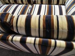 Milo Baughman Handsome Pair of Milo Baughman Style Tuxedo Loveseat Sofa Mid Century Modern - 1222438