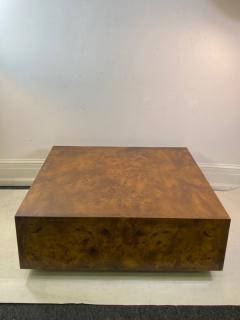 Milo Baughman MILO BAUGHMAN BURLED WOOD COFFEE TABLE - 1436290