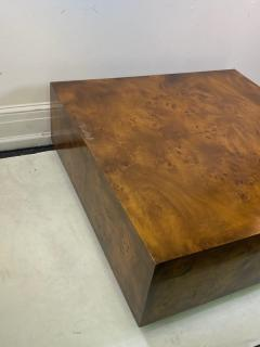Milo Baughman MILO BAUGHMAN BURLED WOOD COFFEE TABLE - 1436291