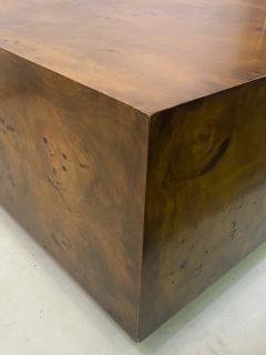 Milo Baughman MILO BAUGHMAN BURLED WOOD COFFEE TABLE - 1436292