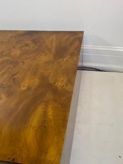Milo Baughman MILO BAUGHMAN BURLED WOOD COFFEE TABLE - 1436294