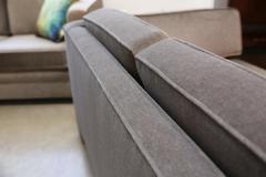 Milo Baughman Mid Century Modern Milo Baughman Style Upholstered in Mohair Tuxedo Sofa - 962981