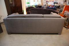 Milo Baughman Mid Century Modern Milo Baughman Style Upholstered in Mohair Tuxedo Sofa - 962982