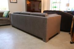 Milo Baughman Mid Century Modern Milo Baughman Style Upholstered in Mohair Tuxedo Sofa - 962983