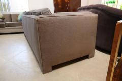 Milo Baughman Mid Century Modern Milo Baughman Style Upholstered in Mohair Tuxedo Sofa - 962984