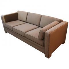Milo Baughman Mid Century Modern Milo Baughman Style Upholstered in Mohair Tuxedo Sofa - 962985