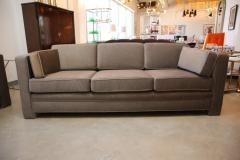 Milo Baughman Mid Century Modern Milo Baughman Style Upholstered in Mohair Tuxedo Sofa - 962986