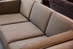 Milo Baughman Mid Century Modern Milo Baughman Style Upholstered in Mohair Tuxedo Sofa - 962988