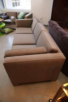 Milo Baughman Mid Century Modern Milo Baughman Style Upholstered in Mohair Tuxedo Sofa - 962989