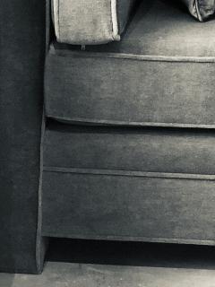 Milo Baughman Mid Century Modern Milo Baughman Style Upholstered in Mohair Tuxedo Sofa - 962990