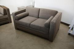 Milo Baughman Mid Century Modern Milo Baughman Style with New Mohair Wool Tuxedo Love Seat - 961998