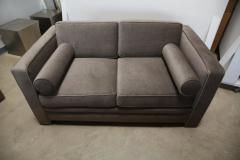 Milo Baughman Mid Century Modern Milo Baughman Style with New Mohair Wool Tuxedo Love Seat - 961999