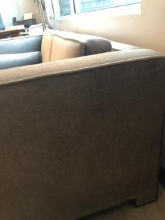 Milo Baughman Mid Century Modern Milo Baughman Style with New Mohair Wool Tuxedo Love Seat - 962003