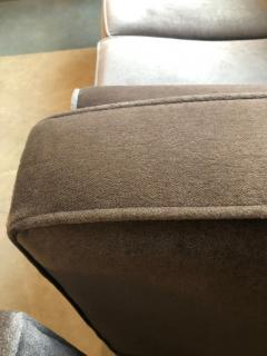 Milo Baughman Mid Century Modern Milo Baughman Style with New Mohair Wool Tuxedo Love Seat - 962004