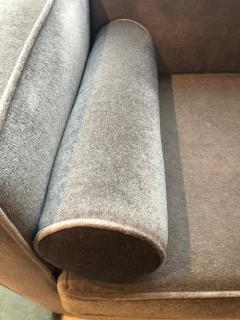 Milo Baughman Mid Century Modern Milo Baughman Style with New Mohair Wool Tuxedo Love Seat - 962005