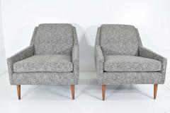 Milo Baughman Mid Century Modern Style Lounge Chairs in New Upholstery - 1148639