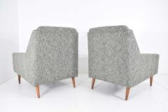 Milo Baughman Mid Century Modern Style Lounge Chairs in New Upholstery - 1148641