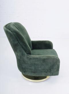 Milo Baughman Milo Baughman Brass Base Swivel Chair - 1509060