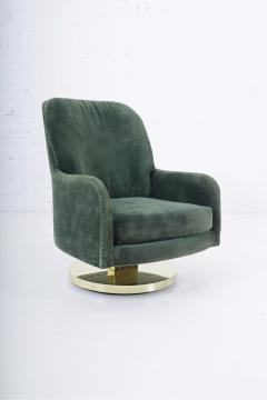 Milo Baughman Milo Baughman Brass Base Swivel Chair - 1509061