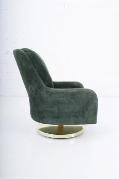 Milo Baughman Milo Baughman Brass Base Swivel Chair - 1509064