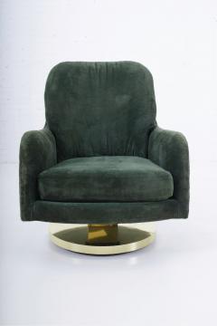 Milo Baughman Milo Baughman Brass Base Swivel Chair - 1509065