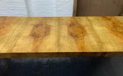 Milo Baughman Milo Baughman Burl Wood Dining Table with Two Leaves - 1309558