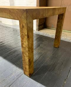 Milo Baughman Milo Baughman Burl Wood Dining Table with Two Leaves - 1309559