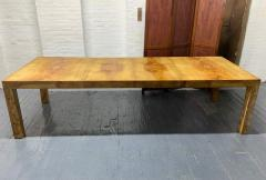Milo Baughman Milo Baughman Burl Wood Dining Table with Two Leaves - 1309562