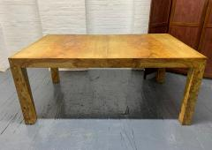 Milo Baughman Milo Baughman Burl Wood Dining Table with Two Leaves - 1309563