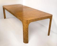 Milo Baughman Milo Baughman Dining Table for Thayer Coggin in Olive Burl Wood 1960s - 1826153
