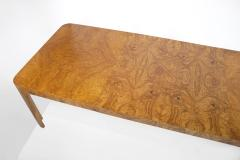 Milo Baughman Milo Baughman Dining Table for Thayer Coggin in Olive Burl Wood 1960s - 1826156