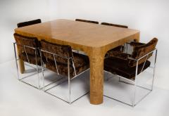 Milo Baughman Milo Baughman Dining Table for Thayer Coggin in Olive Burl Wood 1960s - 1826163