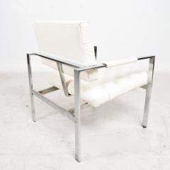 Milo Baughman Milo Baughman Faux Leather Chrome Tufted Lounge Chair Thayer Coggin 1960s - 1681826