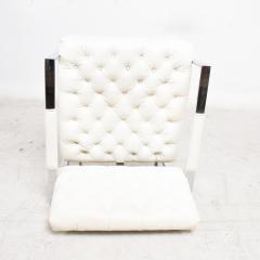 Milo Baughman Milo Baughman Faux Leather Chrome Tufted Lounge Chair Thayer Coggin 1960s - 1681831