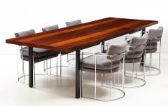 Milo Baughman Milo Baughman For Directional Striped Dining Table - 1996734