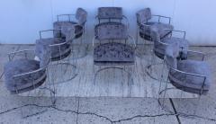 Milo Baughman Milo Baughman For Thayer Coggin Barrel Chrome And Velvet Dining Chairs Set Of 8 - 1957548