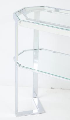 Milo Baughman Milo Baughman For Thayer Coggin Octagonal Mirror With Matching Console - 1548684