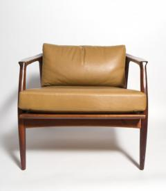 Milo Baughman Milo Baughman Leather And Walnut Lounge Chair 1960 S   139259